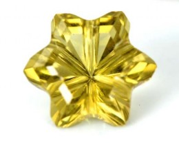 LEMON QUARTZ FLOWER CARVING 3.95 CTS PG-1838