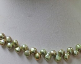 Lime tip Drill Natural Pearl strand  GOGO 889