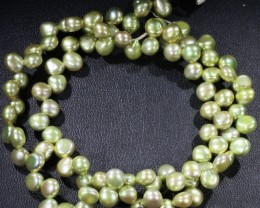 Lime tip Drill Natural Pearl strand  GOGO 890