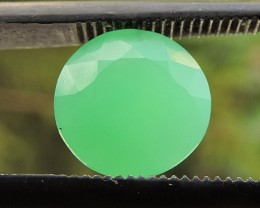 1.95ct CHRYSOPRASE ROUND FACETED SPECIMEN GEMSTONE FROM AFRICA