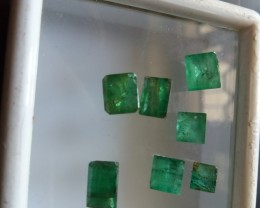 NATURAL EMERALDLOT,4.75CTW-7PCS