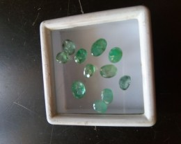 NATURAL EMERALD LOT-6CTW-11PCS