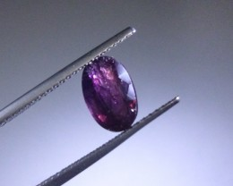 1.68ct  Violetish Purple Sapphire , 100% Natural Untreated Gemstone