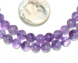3 STRANDS AMETHYST BEADS - 92 CARATS