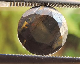 3.05ct TIGER IRON ROUND FACETED SPECIMEN GEMSTONE FROM AUSTRALIA