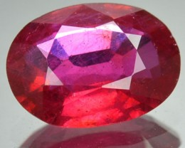 2.34 Cts Natural Blood Red Ruby Oval Cut Mozambique Gem