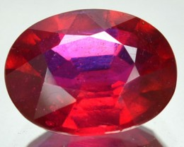 3.72 Cts Natural Blood Red Ruby Oval Cut Mozambique Gem