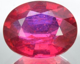 3.33 Cts Natural Blood Red Ruby Oval Cut Mozambique Gem