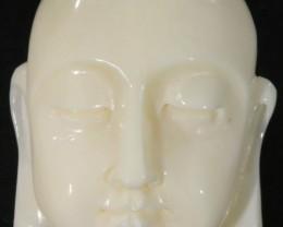 28.15 CTS BUDDHA FACE CARVING  PALM IVORY [GOGO148]