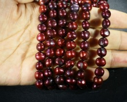 579.05 cts Three Pink side drill Pearl strands  GOGO1005
