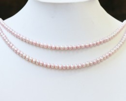 160.15 cts Two Aim cot Pink Round Pearl strands  GOGO1092