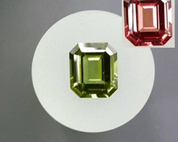 2.84 ct COLOR CHANGE GARNET - MASTER CUT!  STRONG COLOR CHANGE!