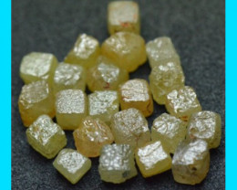 6 cube diamonds yellow brown 1.90 to 2ct total yellow brown