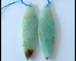 27.5Ct Natural Chrysocolla Earring Beads(B180454)