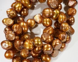 532.95 cts Two Bronze Baroque Pearl strands  GOGO 1145
