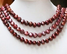 698.50 cts Three Pink Baroque Pearl strands  GOGO 1151