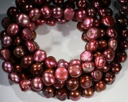 711.60 cts Three Pink Baroque Pearl strands  GOGO 1150