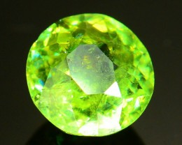 GiL Certified 1.03 ct Natural Demantoid Garnet w Horsetail Inclusion