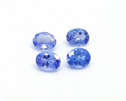 4pcs 1.25 ct oval calibrated tanzanite gemstones for sale
