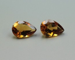 CITRINE PAIR PEAR SHAPED