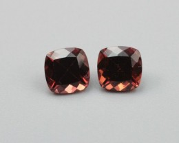 RHODOLITE GARNET CUSHION SHAPED PAIR