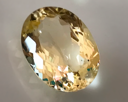 6.32ct Silvery Gold Labradorite Andesine Gem - shimmering stone