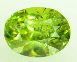 GiL Certified 0.97 ct Natural Demantoid Garnet w Horsetail Inclusion