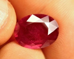 7.29 Carat Fiery Red Ruby - Superb