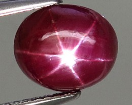 6.08 Carat Fiery Star Ruby - Superb
