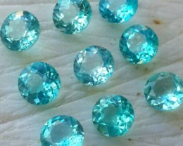 4.30 CTS RAVISHING LUSTER TOP BLUE NATURAL APATITE ROUND GEM