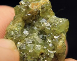Rare Green Garnet Cluster From Afghanistan Collector's Gem