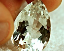 27.4 Carat IF/VVS1 Brazil White Topaz Pear - Gorgeous