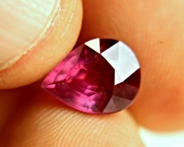4.81 Ct. Fiery Red Ruby Pear - Superb