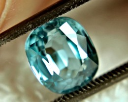 3.18 Carat VVS1 Vibrant Blue Zircon - Superb