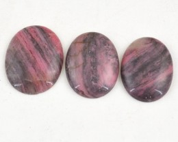 Genuine 215.00 Cts Oval Shaped Pink Rhodonite Cab Lot