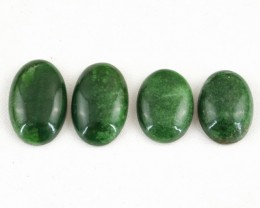 Genuine 111.00 Cts Oval Shaped Green Jade Cab Lot
