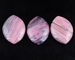 Genuine 250.00 Cts Untreated Pink Rhodonite Cab Lot