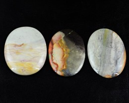 Genuine 202.50 Cts Oval Shaped Polygram Jasper Cab Lot