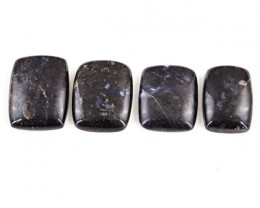 Genuine 205.50 Cts Untreated Black Galaxy Jasper Cab Lot