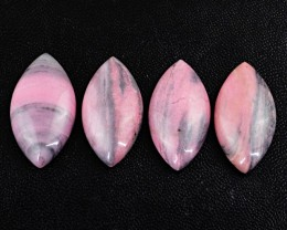 Genuine 110.00 Cts Untreated Pink Rhodonite Cab Lot