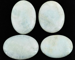 Genuine 230.00 Cts Oval Shaped White Agate Cab Lot