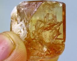 55.45 cts Top Quality & Superb Orange Brown Color Topaz Rough Crystal