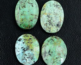 Genuine 37.00 Cts Checkered Cut Oval Shaped Turquoise Cab Lot