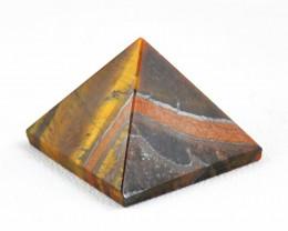 Genuine 101.00 Cts Golden Tiger Eye Healing Pyramid