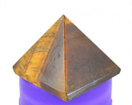 Genuine 81.00 Cts Golden Tiger Eye healing Pyramid