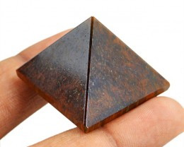 Genuine 92.00 Cts Tiger Eye Healing Pyramid