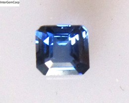 0.28cts Natural Australian Blue Sapphire Square Emerald Cut