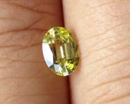 0.75cts Natural Australian Yellow Sapphire Oval Cut