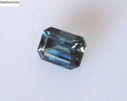 0.78cts Natural Australian Blue Sapphire Emerald Cut