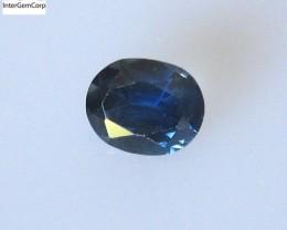0.69cts Natural Australian Blue Sapphire Oval Cut
